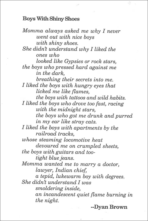 Boys with Shiny Shoes by Dyan Brown