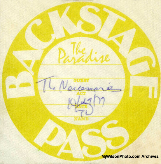 Mj Wilson Photo Archives - Backstage Pass for The Necessaries & The B-52s at The Paradise - Boston, MA