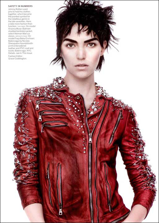Balmain Studded Red Leather Jacket - Vogue