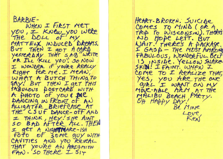 Barbie & Ken Letter from Todd
