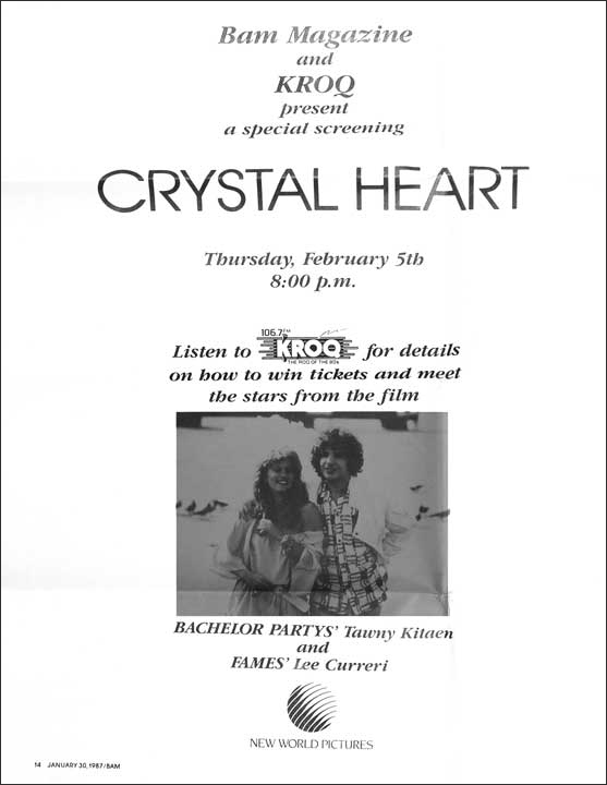 Crystal Heart with Tawny Kitaen & Lee Curreri - New World Pictures