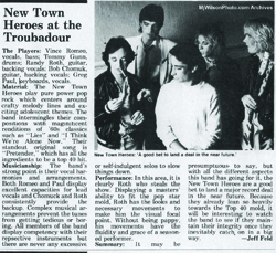 Music Connection Magazine review of New Town Heroes