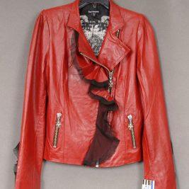 Royal Underground Red Leather Jacket