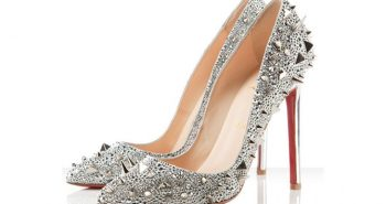 Christian Louboutin 120mm studded Silver Pumps