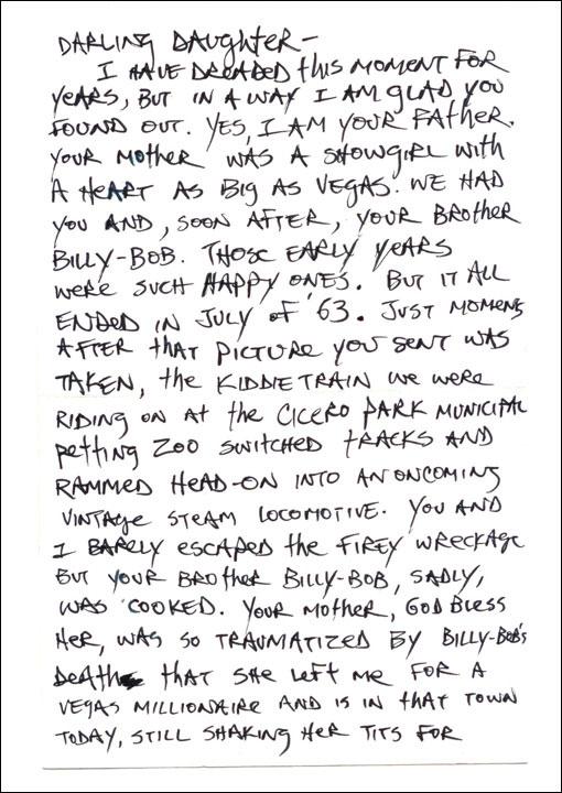 Yo' Momma Letter Page 1