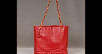 Vintage Red Chanel Tote Bag