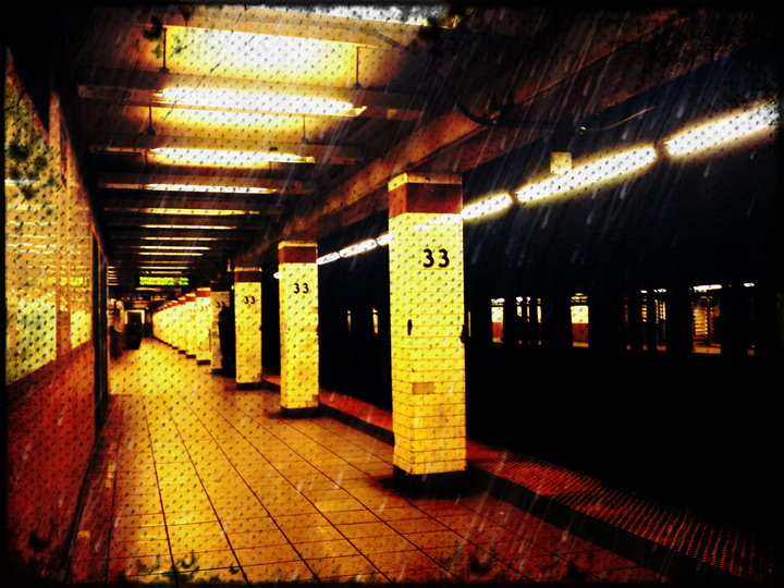 "The ""6"" line - 33rd Street - New York City - Photo by Mj Wilson"
