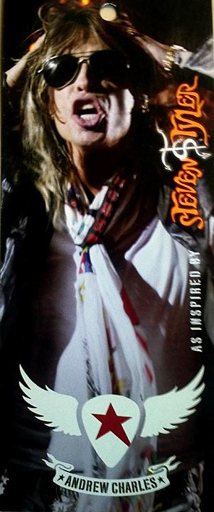 Steven Tyler hangtag for Andrew Charles clothing