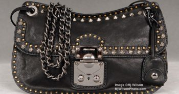Miu Miu Pattina Nappa Borchie Studded Handbag
