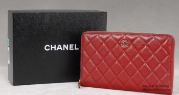 Chanel Red Caviar Leather Large Wallet - Photo by Mj Wilson Photography
