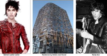 Photos of Balmain Leather Jacket, Glass Building, and Randy Gun