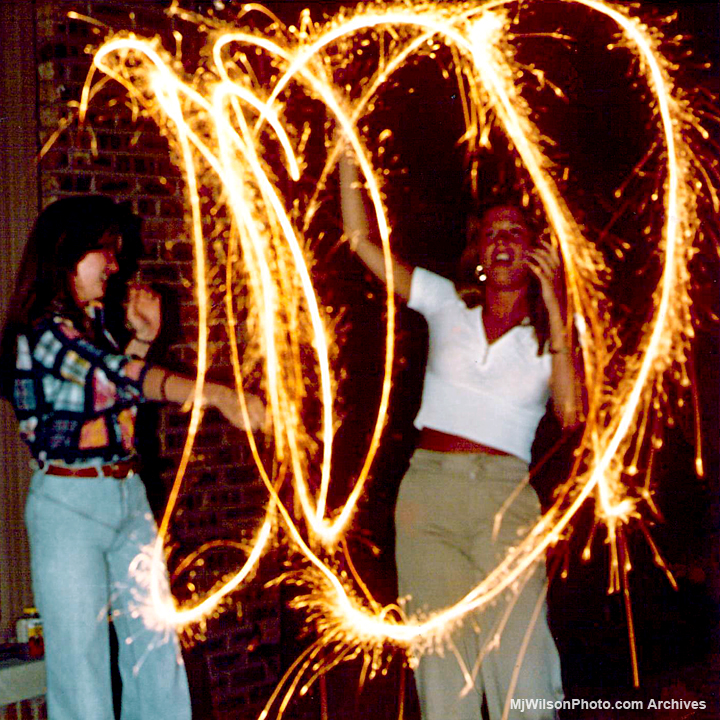 Sparkler Photos from Valley Lo