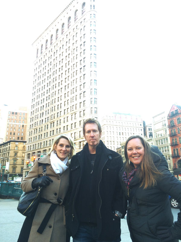 Kelly, Kevin and Sandra at the Flatiron Building