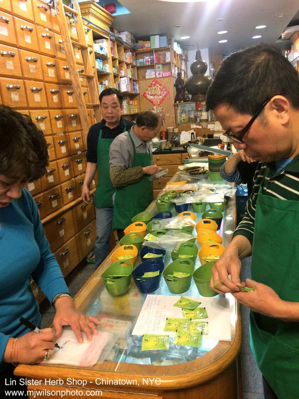 Lin Sister Herb Shop Interior
