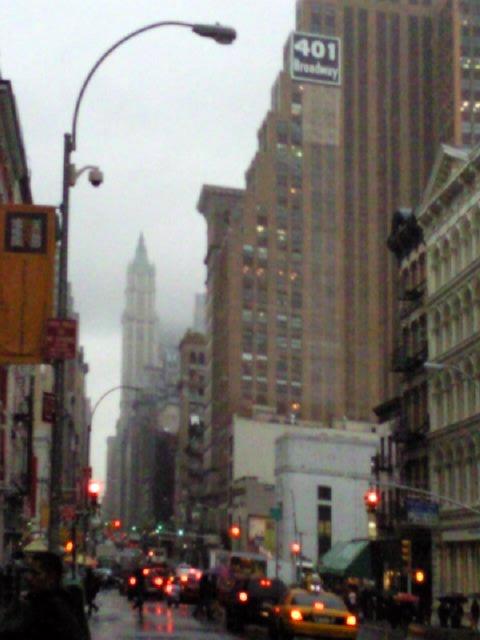 Rainy Day on Canal Street - New York City