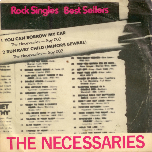 "Mj Wilson Photo Archives - The Necessaries 7"" Single - You Can Borrow My Car b/w Runaway Child (Minors Beware)"