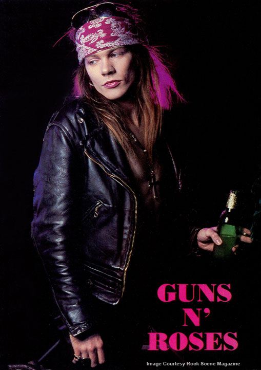 Axl Rose - Guns N' Roses - Rock Scene Magazine Photo