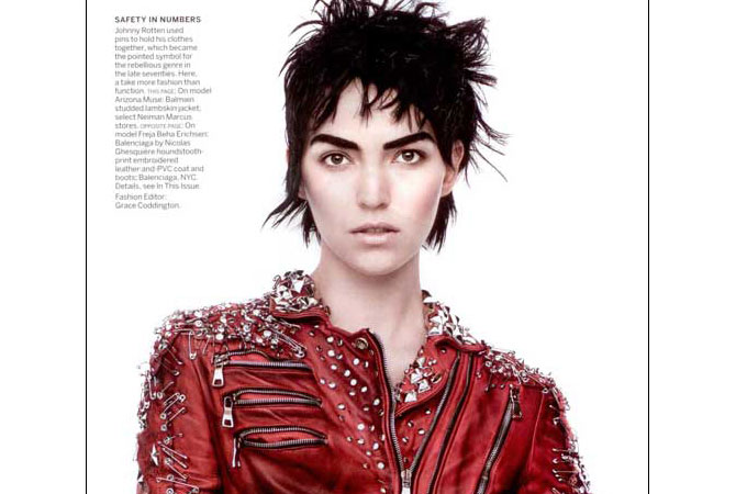 14517ca0cda9 Balmain Red Leather Jacket with Safety Pins and Studs Archives - Mj ...
