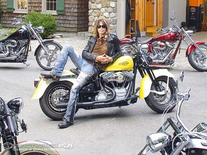 Steven Tyler on Motorcycle