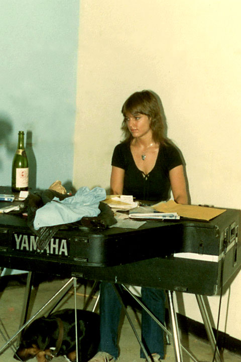 Jane (Balmond) Mangini, Max the Dog, and a bottle of wine