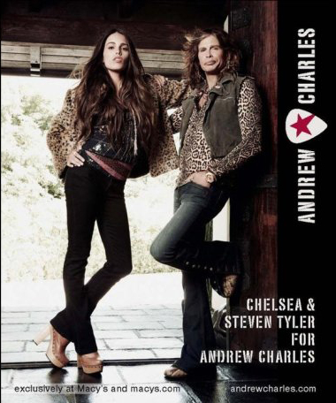 Chelsea and Steven Tyler for Andrew Charles exclusively at Macy's
