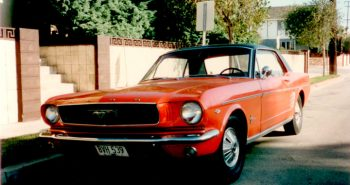 1966 Red Ford Mustang