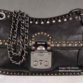 Miu Miu Pattina Nappa Borchie Studded Handbag