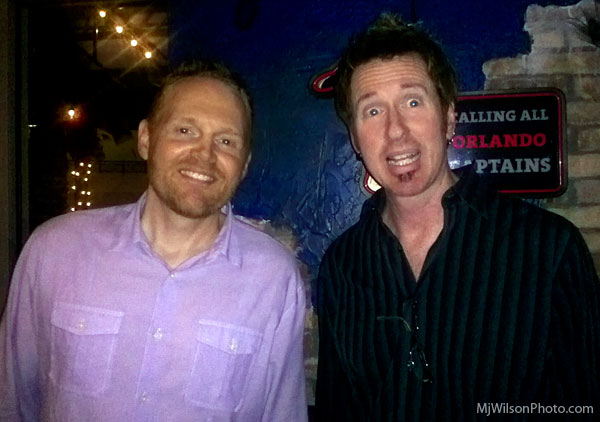 Comedian Bill Burr and Kevin Shawn Wilson at the Orlando Improv