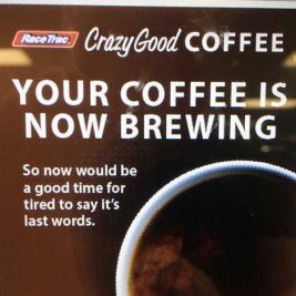Typo on racetrac coffee machines
